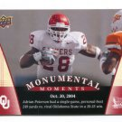ADRIAN PETERSON 2011 UD College Football Legends Monumental Moments #93 Oklahoma Sooners VIKINGS