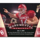 JOSH HEUPEL 2011 UD College Football Legends Monumental Moments #90 Oklahoma Sooners QB