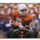 BRETT STAFFORD 2011 UD College Football Legends #47 Texas Longhorns QB