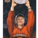 Coach MACK BROWN 2011 UD College Football Legends #81 Texas Longhorns