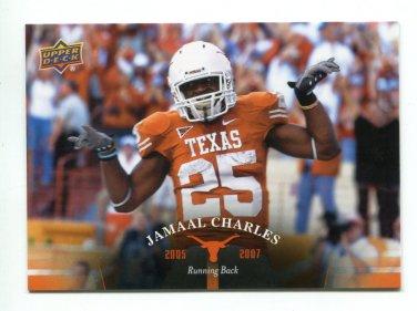 JAMAAL CHARLES 2011 UD College Football Legends #76 Texas Longhorns KC CHIEFS
