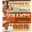 JAMES STREET / STEVE WORSTER / COTTON SPEYRER 2011 UD College FB Legends NC INSERT Longhorns QB