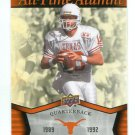 PETER GARDERE 2011 UD College Football Legends All-Time Alumni INSERT Texas Longhorns QB