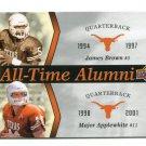JAMES BROWN / MAJOR APPLEWHITE 2011 UD College Football Legends All-Time Alumni INSERT Longhorns QB