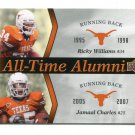 RICKY WILLIAMS / JAMAAL CHARLES 2011 UD College Football Legends All-Time Alumni INSERT Longhorns
