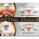 MAJOR APPLEWHITE / PETER GARDERE 2011 UD College FB Legends All-Time Alumni INSERT Longhorns QB