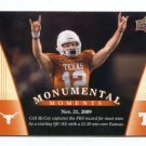 COLT McCOY 2011 UD College Football Legends Monumental Moments #97 Texas Longhorns REDSKINS QB