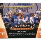 MAJOR APPLEWHITE 2011 UD College Football Legends Monumental Moments #92 Texas Longhorns QB