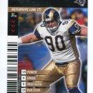 JEFF ZGONINA 2001 NFL Showdown First 1st Edition #414 St. Louis Rams