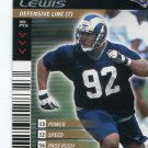 DAMIONE LEWIS 2001 NFL Showdown First & Goal #121 ROOKIE St. Louis Rams