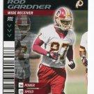 ROD GARDNER 2001 NFL Showdown First & Goal #117 ROOKIE Redskins CLEMSON Tigers