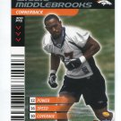 WILLIE MIDDLEBROOKS 2001 NFL Showdown First & Goal #127 ROOKIE Broncos