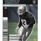 DERRICK GIBSON 2001 NFL Showdown First & Goal #119 ROOKIE Raiders