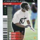 ALGE CRUMPLER 2001 NFL Showdown First & Goal #94 ROOKIE Falcons NORTH CAROLINA UNC Tar Heels