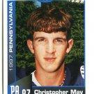 CHRISTOPHER MAY 1997 Big 33 Pennsylvania High School card