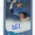 BRANDON MAURER 2013 Topps Chrome REFRACTOR  AUTO #102  ROOKIE Mariners #d/499