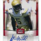 STEPHEN HILL 2012 Leaf Draft AUTO #SH1 ROOKIE Georgia Tech NEW YORK NY Jets WR