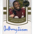 ANTHONY DIXON 2010 Press Pass Sideline Signatures ATUO ROOKIE 49ers MISS STATE