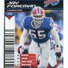 JAY FOREMAN 2002 NFL Showdown #39 ROOKIE Bills NEBRASKA Cornhuskers