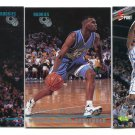 (3) JERRY STACKHOUSE 1995 Classic LOT Rookie NORTH CAROLINA Tar Heels