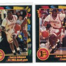 (2) LARRY JOHNSON 1992 Wild Card ROOKIE Lot UNLV Hornets