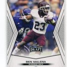 BEN MALENA 2014 Leaf Draft #7 Rookie TEXAS A&M Aggies RB QUANTITY QTY