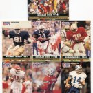 (7) BARRY SANDERS, BO JACKSON, TIM BROWN, QB, MORE 1991 Pro Set Heisman Hero LOT