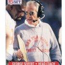 Coach GEORGE SEIFERT 1991 Pro Set #297 49ers