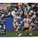 JOE MONTANA / JERRY RICE 1991 Pro Set #329 49ers NOTRE DAME Irish QB