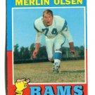 MERLIN OLSEN 1971 Topps All-Pro #125 Los Angeles Rams RIP