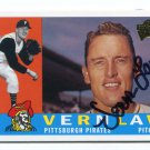 PW) VERN LAW 2003 Topps All-Time Fan Favorites IP AUTO #102 Pittsburgh Pirates