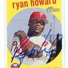 PW) RYAN HOWARD 2008 Topps Heritage IP AUTO #380 Philadelphia Phillies