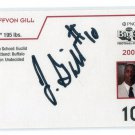 JEFFVON GILL 2009 Big 33 Ohio High School AUTO AUTOGRAPH card U of BUFFALO BULLS