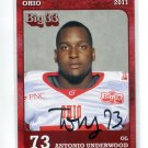 ANTONIO UNDERWOOD 2011 Big 33 OH High School AUTO card OHIO STATE Buckeyes AUTOGRAPH OL