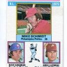 MIKE SCHMIDT / GREG LUZINSKI / DAVE KINGMAN 1976 Topps LL #193 Philadelphia Phillies