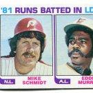 MIKE SCHMIDT / EDDIE MURRAY 1982 Topps LL #163 Philadelphia Phillies ORIOLES