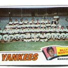 Manager Coach BILLY MARTIN 1977 Topps Team Card TC #387 New York NY Yankees