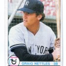 CRAIG NETTLES 1979 Topps #460 New York NY Yankees