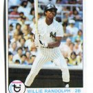WILLIE RANDOLPH 1979 Topps All-Star #250 New York NY Yankees