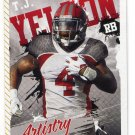 T.J. TJ YELDON 2015 Sage Hit Artistry #ART-12 Alabama Crimson Tide JAGUARS RB