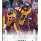 TITUS DAVIS 2015 Leaf Draft GOLD #78 ROOKIE Central Michigan WR