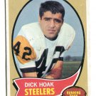 DICK HOAK 1970 Topps #28 Pittsburgh Steelers PENN STATE