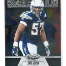 JONAS MOUTON 2011 Panini Certified New Generation #196 ROOKIE Chargers MICHIGAN Wolverines #d/999