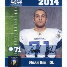 NOAH BEH 2014 Pennsylvania PA Big 33 High School card PENN STATE OL