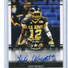 YURI WRIGHT 2012 Leaf Army All-American AUTO #BA-YW1 Colorado Buffalo #d/50