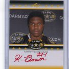 KEITH BROWN 2012 Leaf Army All-American TOUR AUTO Louisville Cardinals LB #d/25