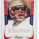 CHRISTIAN PONDER 2011 Panini Prestige XTRA POINTS SP #219 ROOKIE Vikings FLORIDA STATE QB #d/100