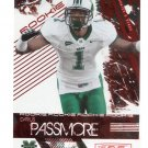 DARIUS PASSMORE 2009 Leaf Rookies & Stars RED LONGEVITY SP #142 ROOKIE Marshall #d/150