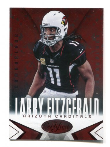 LARRY FITZGERALD 2014 Panini Certified Immortals Red Camouflage SP #2 Pitt Panthers CARDINALS