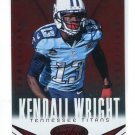 KENDALL WRIGHT 2014 Panini Certified Immortals Red Camouflage SP #97 Baylor Bears TITANS